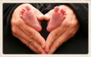 newborn, birth, baby feet, daddy's hands, Mother's Day