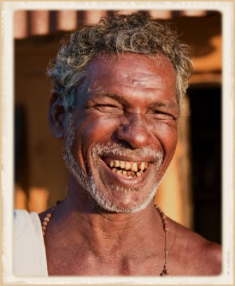 indigenous man smiling